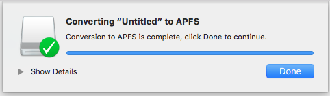 Converting external drive to Apple File System (APFS) format
